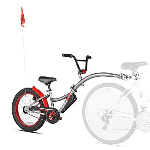 Wee Ride Co-Pilot XT Deluxe Wide Tire Bike Trailer, Grey