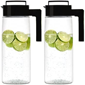 Takeya Airtight Drink Maker Pitcher / Jug, Set of Two (Black)