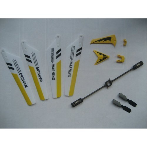 SYMA Full Replacement Parts Set S107 RC Helicopter, Main Blades, Tail Decorations, Tail Props, Balance Bar, -Yellow Set-