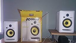 KRK RP5G3W-NA Rokit 5 Generation 3 Powered Studio Monitor - White - Pair