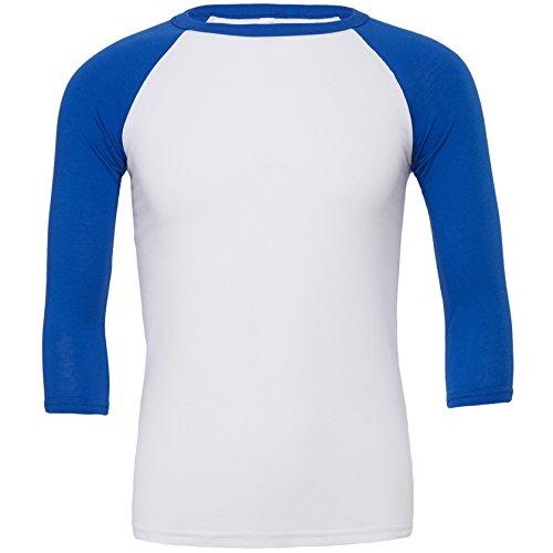 La Manga Blanco Triblend Royal True De Camiseta Béisbol ¾ qOHB7HA