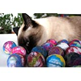 Cat and dog interactive toy. Wool ball. Handmade. Natural sheep wool. Soft and light. Also have more other uses. 5 pieces