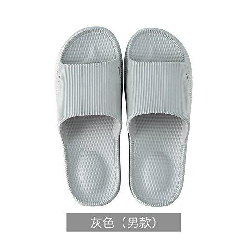 YMFIE Sandalias de Masaje Antideslizantes para Mujer, Suela de Espuma Suave para el hogar, Zapatos de Piscina, Zapatos de Baño gris