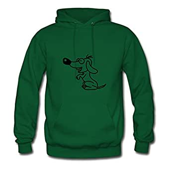 X-large Vogue Women Hoodies Dog_1c By Lynsnyd Green