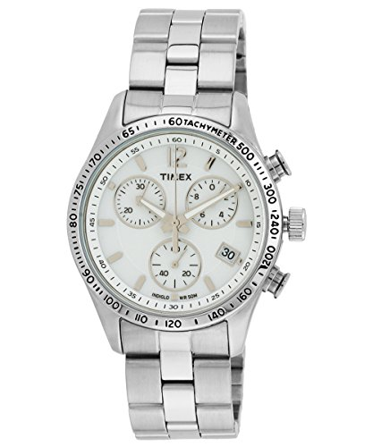 37mm Watch White Dial (Timex Women's Expedition T2P059 Silver Stainless-Steel Analog Quartz Watch with White Dial)