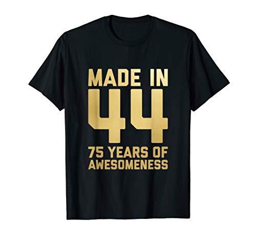 75th Birthday Shirt Grandpa Gifts Grandma Age 75 Year Old