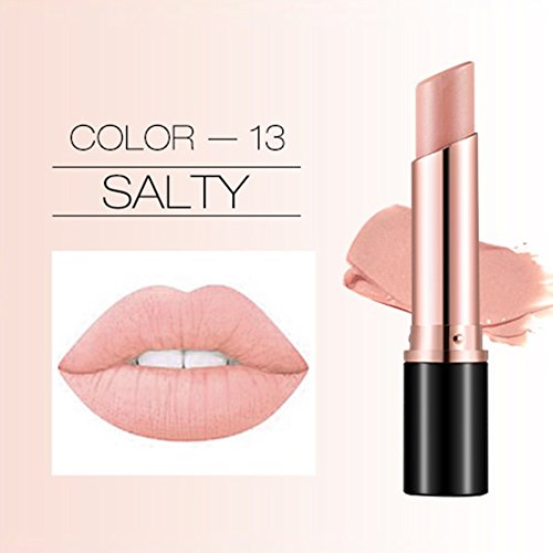 Matte Lipstick Cream Balm Long Lasting Moisturizing Lip Gloss Makeup Cosmetic 12 Colors (#3.0) ()
