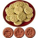 JBK Pottery Cookie Stamp Set - Nature