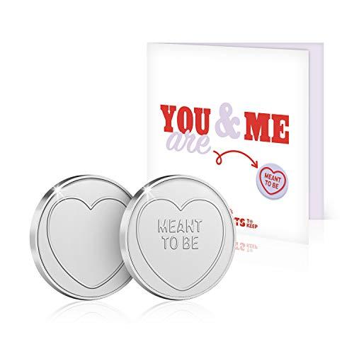 The Koin Club Anniversary Card Birthday Gift Love Hearts Sweets Present for Him / Her / Men / Women / Girlfriend / Boyfriend / Husband / Wife