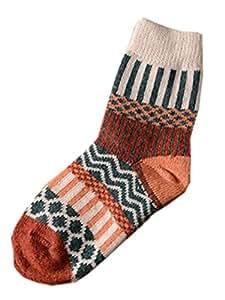 Womens Preppy Style [Nation Trend] Knee-socks Short Boot Socks Medium 2 Pairs