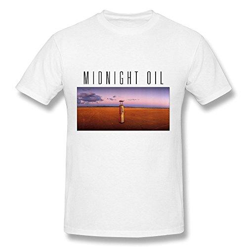 Hsuail Men's Midnight Oil Band T-Shirt White US Size (Hard Rock Dc Halloween)