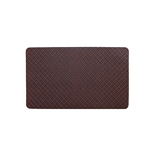 Gentle Step- Anti Fatigue Memory foam Kitchen Mat (Basket Weave Red)
