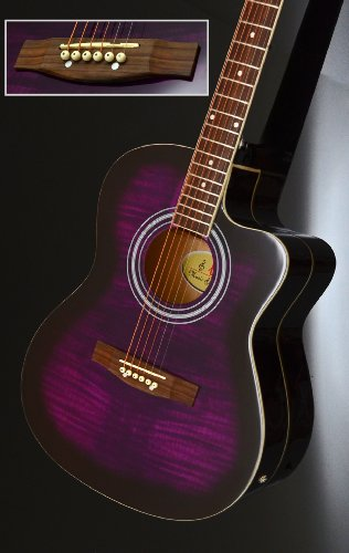 Ts ideen 5302 guitare acoustique western style violet for Ts ideen