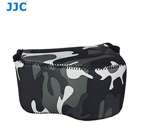 JJC Camouflage Ultra Light Neoprene Camera Case for Sony a6500 a6400 a6300 a6000 a5100 w/ 16-50mm Lens, Case for Sony RX1 RX1R RX1R II, Panasonic LX100 LX100 II, Canon X420IS SX510 HS G1X III (Traveler Ultra Light Case)