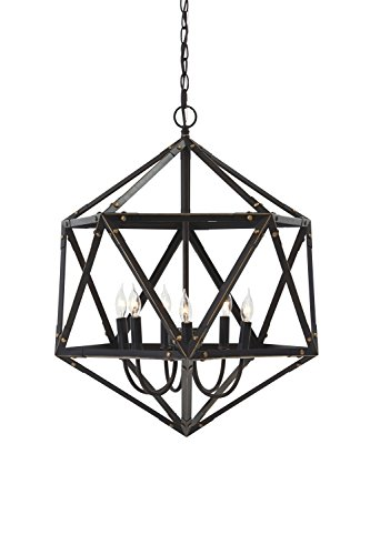 Ashley Furniture Signature Design - Fadri Rustic Industrial Metal Pendant Light, Bronze Finish