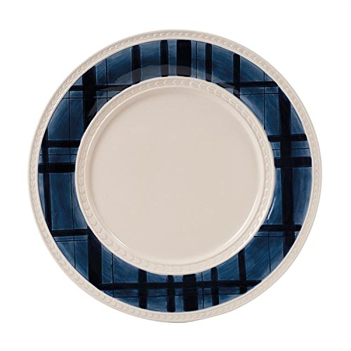 Fitz and Floyd Bristol Indigo Tartan Dinner Plate-Set of 2