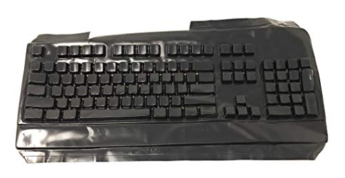 Custom Made Black Non-Transparent Keyboard Cover Mask to Learn Typing for Dell SK 8115 / RT7D50 - Part 726E104 Keyboard Not Included