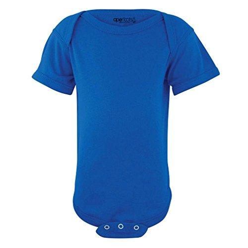 Apericots Super Soft Cotton Blank Plain Comfy Baby Short Sleeve Bodysuit