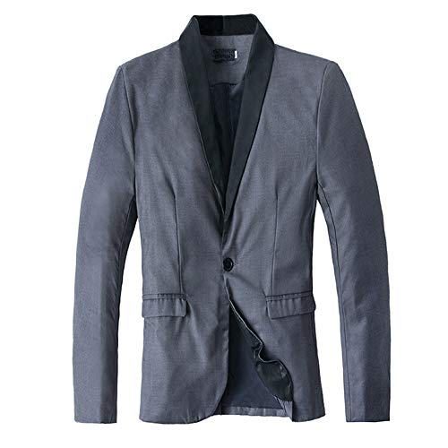 XoiuSyi Men's Winter Casual Slim Long Sleeve Suit Jacket Trench Suit Coat from XoiuSyi&Men's Clothing