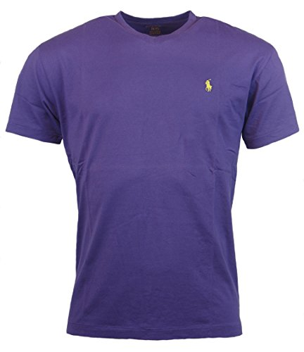 (Polo Ralph Lauren Mens Classic Fit Solid V-Neck T-Shirt - XXL - Purple)