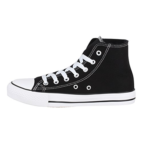 Chunkyrayan Fällt Black Unisex Damen Herren Aus Basic Größer Sneaker Nummer High Eine Top Elara z0YqnEFWg0