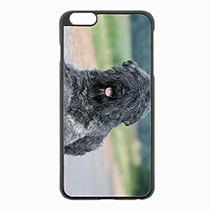 iPhone 6 Plus Black Hardshell Case 5.5inch - dog coat asphalt Desin Images Protector Back Cover