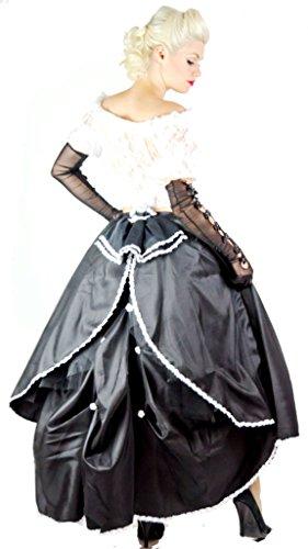 Cenicienta Black Gótico Falda Long Purple With Steampunk Encaje 5gqaEdx