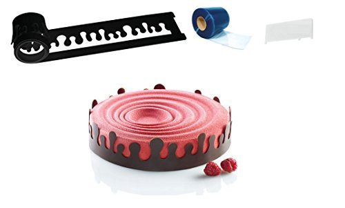 Silikomart ''Drop'' Silicone-Stencil Cake-Decorating Set