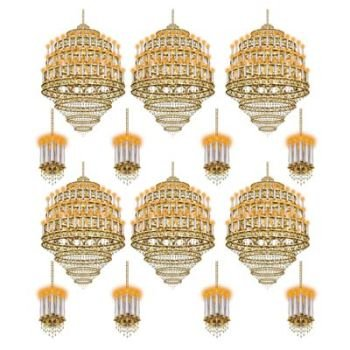 Elegant Black Tie Party Chandelier Light Wall Props Decoration