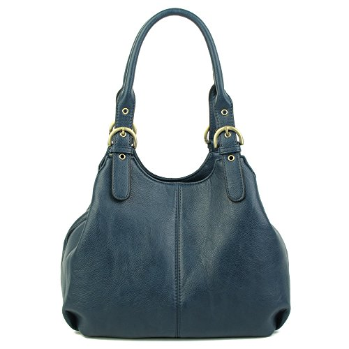London bags Long lady bag Bag strap Craze Pockets women's Multiple Navy Shoulder Strap long New Size shoulder Medium and with Womens Swxdq1