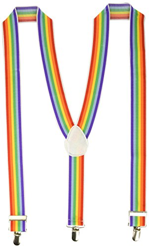 Sensual Costumes (Forum Novelties Unisex Rainbow Suspenders, One Size)