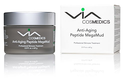 Body Mud Masque - MEGAMUD | Anti-Aging Peptide Mud Mask | Rejuvenating Spa Facial with Matrixyl, Argireline, Hyaluronic Acid, Green Tea, Argan Oil, Natural Antioxidants | Professional Skincare Treatment