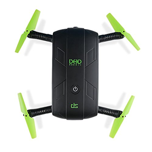 Price comparison product image SUKEQ JJRC DHD D5 30W WiFi FPV Camera Altitude Hold Phone Control Foldable Pocket Quadcopter,  Black