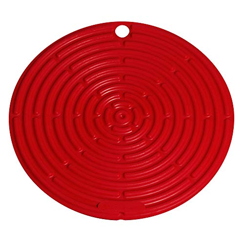 "Le Creuset Silicone 8"" Round Cool Tool, Cerise (Cherry Red)"