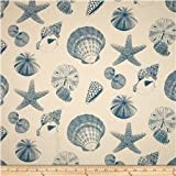 Nautical Draft Stoppers - Unfilled - Window or Door Draft Stopper (Shells Blue)