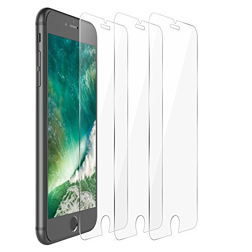 iPhone 7 Plus Screen Protector, F-color iPhone 7 Plus Screen Protector Tempered Glass Clear iPhone 7 Screen Cover Film Anti Scratch Bubble Free Easy to Install HD Clear, Life Time Warranty, 3 Pack