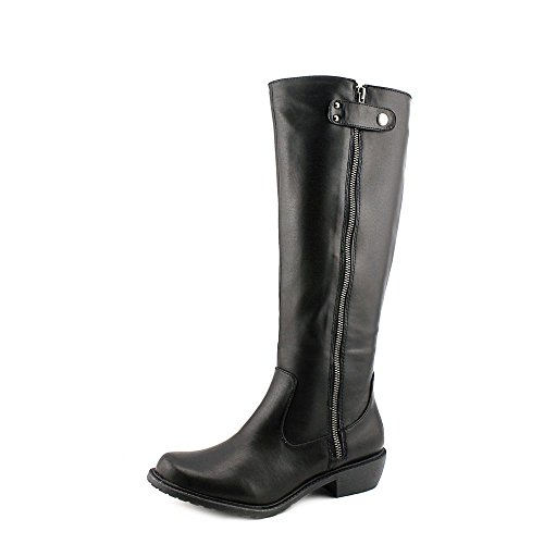 Mia Page Womens Size 6 Black Leather Fashion - Knee-High Boots