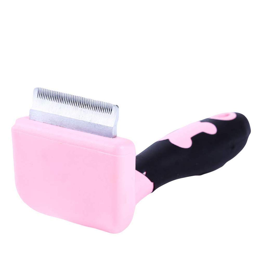BeiMi Pet Grooming Brush Professional Hair Removal Tools for Dogs and Cats, Can Effectively Reduce The Shedding Rate Up to 95% Professional Shedding Pink