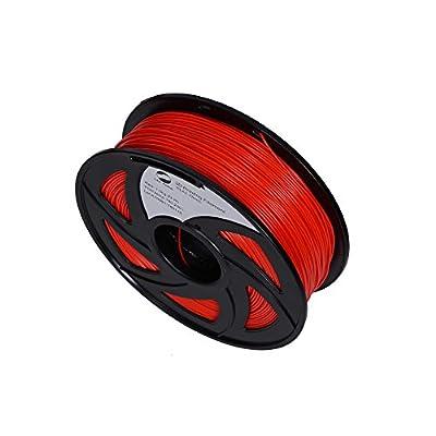 LEE FUNG 1.75mm PLA 3D Printing Filament Dimensional Accuracy +/- 0.05 mm 2.2 LB Spool DIY Material Tools (Red)