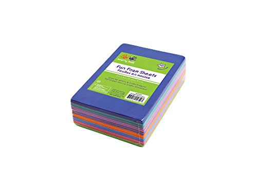 Multicraft Imports GC044B Assorted 1.5mm Foam Sheets, 4-Inch X 6-Inch, 30-Pieces]()
