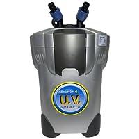 Filtro de bote de reacción de 4 etapas JBJ con esterilizador UV para acuarios, filtros de hasta 150 galones