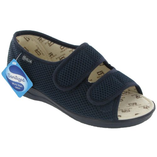 Mirak Textile Lined Womens Sandals - Navy - Size 3 4 5 6 7 8 9 Azul marino