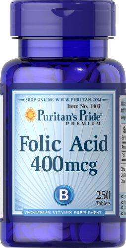 Folic Acid 400 Mcg Tab - 1