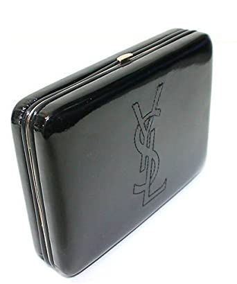 24586ed596 BOXED Yves Saint Laurent YSL Ladies Glossy Patent Clutch Bag Purse Black   Amazon.co.uk  Clothing
