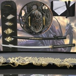 TENRYU MAZ-023D Hand Forged Samurai Sword 41-Inch Overall (Set Ninja Real)