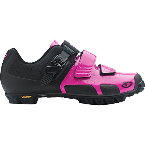 Giro 2017 Womens Sica VR70 Dirt Cycling Shoes (Bright Pink/Black - 41)
