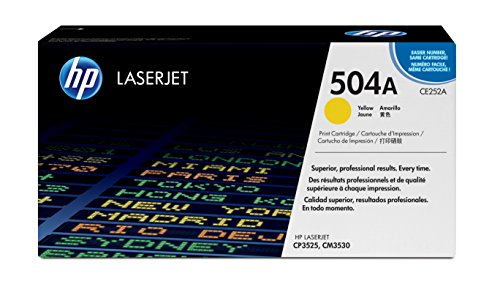 HP 504A (CE252A) Yellow Toner Cartridge for HP Color LaserJet CP3525 CM3530