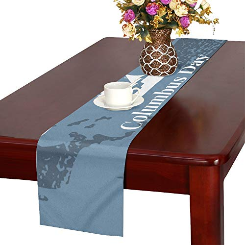 Template Banner Columbus Day Ships Atlantic Table Runner,