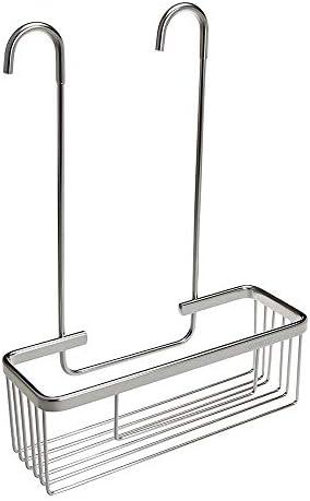 Pack Ahorro 2 Portagel cesta de ducha y bañera GAR rectangular sin taladros ni adhesivos, de aluminio acabado en cromo brillo. Sujección ganchos con protectores de silicona. Pack 2 unidades: Amazon.es: Bricolaje