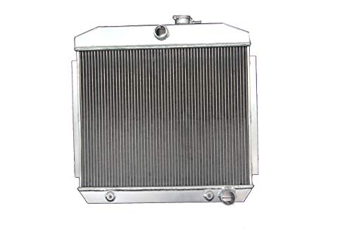 ZC5057 New 3 Rows All Aluminum Radiator Fit 1955-57 Bel Air/Del Ray/One-Fifty Series V8 Engines